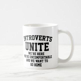 Introverts Unite Coffee Mugs