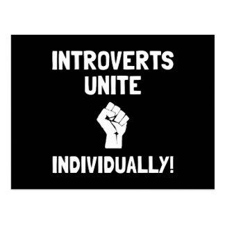 Introverts Unite Postcard