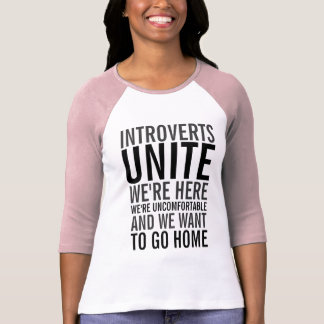 Introverts Unite Raglan Shirt