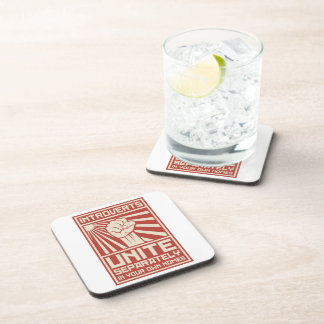 Introverts Unite Separately In Your Own Homes Coasters