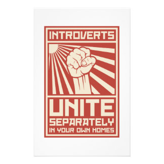 Introverts Unite Separately In Your Own Homes Stationery