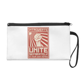 Introverts Unite Separately In Your Own Homes Wristlet Purse