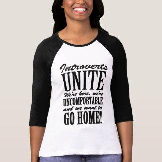 Introverts Unite! T Shirt