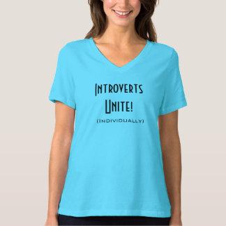 Introverts Unite! Women's shirt in Medium.