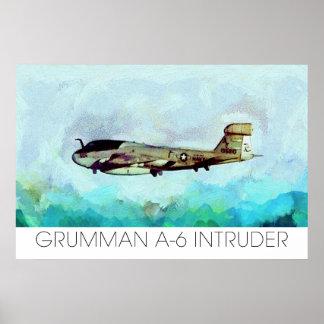 ¡Intruso de Grumman A-6 rendido en foto de la pint Póster