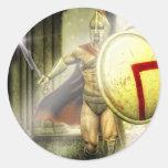 intruso espartano pegatinas redondas