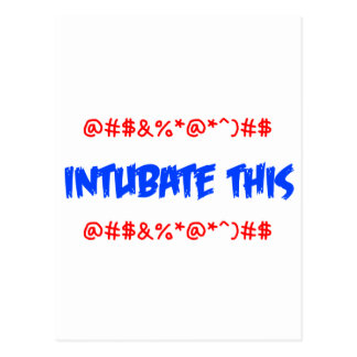 Intubate esto tarjeta postal