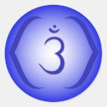 Intuición Chakra - Ajna Etiqueta Redonda