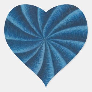 Intuición del arte curativo #1- de Chakra del Pegatina En Forma De Corazón