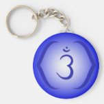Intuition Chakra - Ajna Basic Round Button Keychain