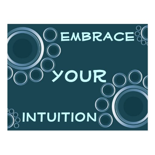 intuition postcard