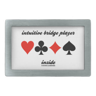 intuitive bridge player inside (Four Card Suits) Belt Buckle