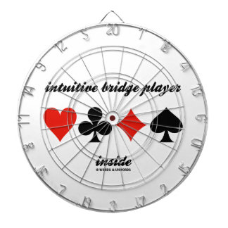 intuitive bridge player inside (Four Card Suits) Dart Board