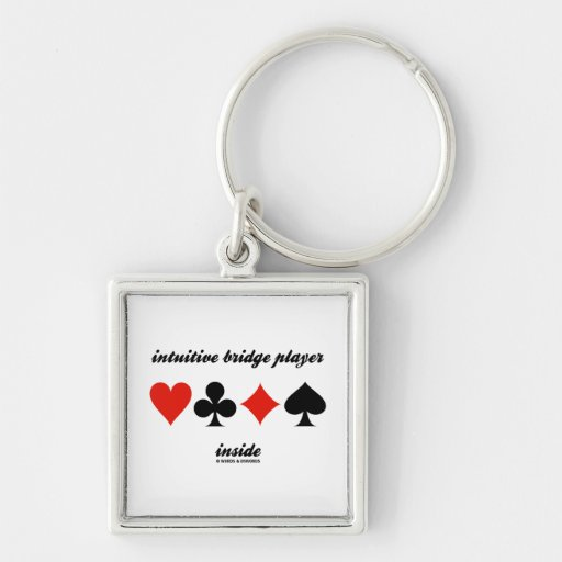 intuitive bridge player inside (four card suits) key chains