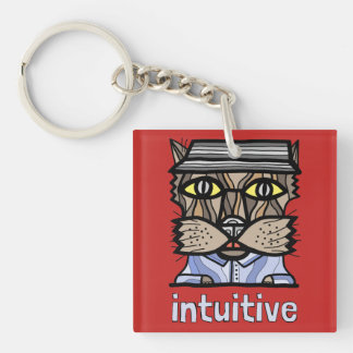 """Intuitive"" Square (double-sided) Keychain"