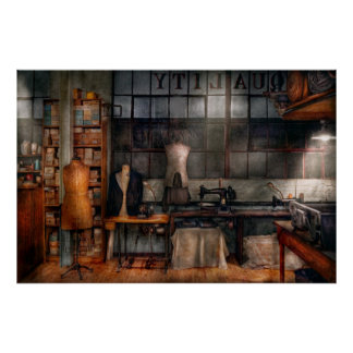 - Inudstrial - linos de costura de la calidad Póster