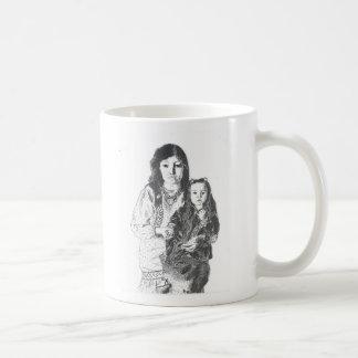 Inuit family classic white coffee mug