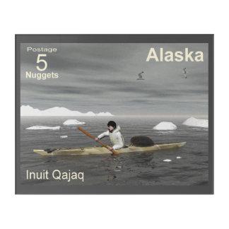 Inuit Kayak - Alaska Postage Acrylic Print