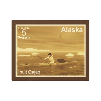 Inuit Kayak - Alaska Postage Metal Photo Print