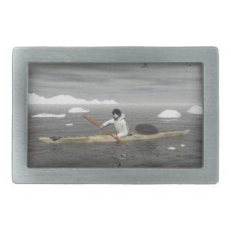 Inuit Kayak Rectangular Belt Buckles