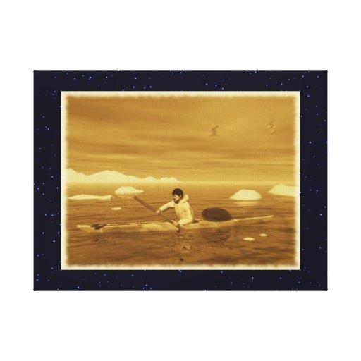 Inuit Kayak Canvas Print