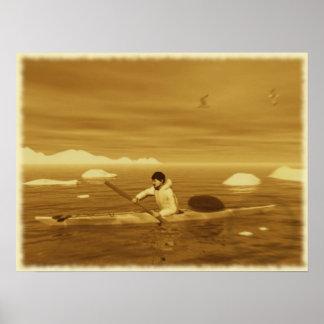 Inuit Kayak Print