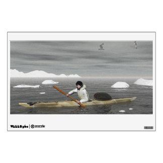 Inuit Kayak Wall Stickers