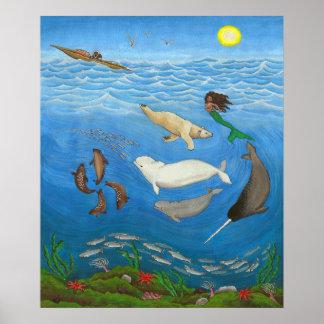 Inuit Myth Painting Prints