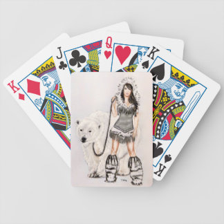 Inuit Pin Up Girl Bicycle Playing Cards