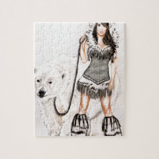 Inuit Pin Up Girl Jigsaw Puzzle