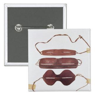 Inuit sun/snow 'glasses' pinback button