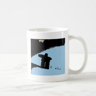 Inukshuk de las montañas costeras tazas de café