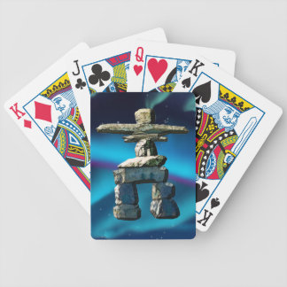 Inukshuk Native American Spirit Stones Bicycle Playing Cards