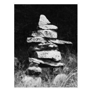 Inukshuk Stands Strong Post Card