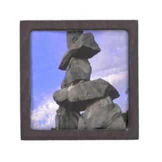 Inukshuk, territorios del noroeste, Canadá Cajas De Recuerdo De Calidad