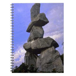 Inukshuk, territorios del noroeste, Canadá Notebook