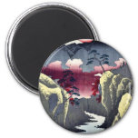 Inume Pass in Kai Province by Ando, Hiroshige Refrigerator Magnet