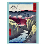 Inume Pass in Kai Province by Ando, Hiroshige Post Card