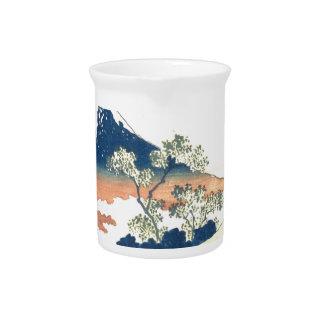 Inume Pass in Kai Province - Katsushika Hokusai Beverage Pitcher
