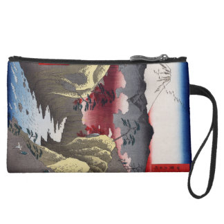 Inume Pass in Kai Province. Suede Wristlet Wallet