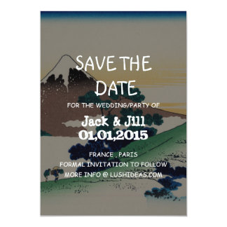 """Inume pass in the Kai province 5"""" X 7"""" Invitation Card"""