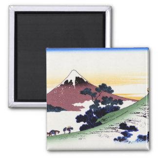Inume pass in the Kai province Katsushika Hokusai 2 Inch Square Magnet