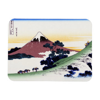 Inume pass in the Kai province Katsushika Hokusai Rectangular Photo Magnet
