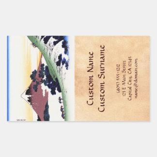 Inume pass in the Kai province Katsushika Hokusai Rectangular Sticker