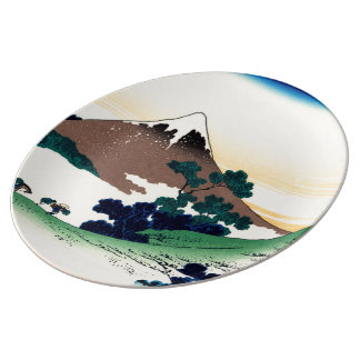 Inume pass in the Kai province Porcelain Plates