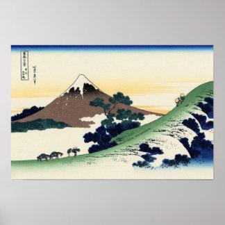 Inume Pass, Kōshū (by Hokusai) Poster