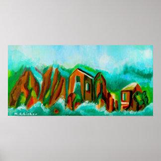 Inundación alpina póster