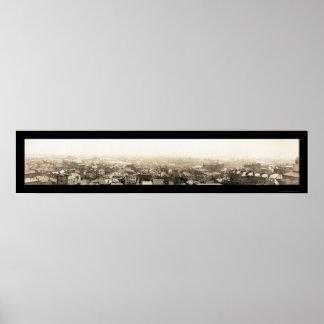 Inundación de Columbus, foto 1913 del OH Póster