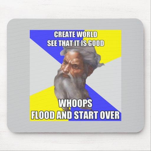 Inundación de dios del duende mousepads