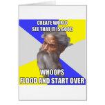 Inundación de dios del duende tarjetas